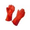 Lashandschoen molton gevoerd rood 35cm kevlar gestikt