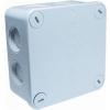 Wiska 407/3 kunststof kabeldoos 95x95 mm., grijs, met 3 x wartel ESKV 20 plus