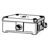 Haf 3640 kabeldoos met 7 uitbreekpoorten incl. deksel en 3 invoerstukken