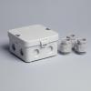 Attema AK1-IP65 2280 kabeldoos 95 x 95 x 45mm met 8 x M20 aansluiting en vzv. 3 x M20 wartels