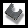 Solar polfix + PVC grijs 16mm buisklem