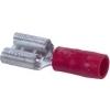Half geisoleerde contactklem 6,3 x 0,8mm (rood) 0,5-1,5mm² doosje à 100st