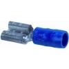 Half geisoleerde contactklem 6,3 x 0,8mm (blauw) 1,5-2,5mm² doosje à 100st