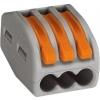 Wago 222-413 universele verbindingsklem 3-voud, 0,8-4mm² voor soepele kabel