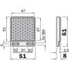 Sick P250 reflector 51 x 61mm vzv. 2 bevestigingsgaten