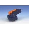 Holec knop blauw type D as 6mm voor deurmontage special hangslotvergrendeling