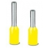Geisoleerde adereindhulsjes enkel 1x 0,25mm geel (à 100st)