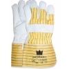 Worker 1.11.242.00 handschoen nerfleder met gerubberiseerde gele kap en palmversterking 10cm maat 10