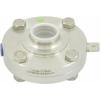 AWH RVS 316L HL- zuivelvlinderklep DN 25, EPDM las/las 25,4mm (zonder handgreep)