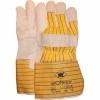 Worker 1.11.240.00 handschoen nerfleder met gerubberiseerde gele kap 10cm maat 10