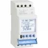 Digitale electrische schakelklok 2-kanaals met wisselcontact 16A 230V