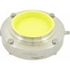 AWH RVS 316L HL- zuivelvlinderklep DN 100, EPDM las/las (zonder handgreep)