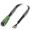 Phoenix 1669628 sensor-/actorkabel 3-polig PUR halogeenvrij zwartgrijs ral7021