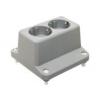 Haf 3640W2 deksel met 2-voudig wandcontactdoos grijs - schroefbev.
