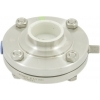 AWH RVS 316L HL- zuivelvlinderklep DN 40, EPDM las/las (zonder handgreep)