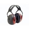 3M Peltor X3A gehoorkap rood met standaard hoofdband (SNR 33 dB)