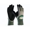 ATG MaxiCut Oil Grip 34-305 handschoen groen/grijs/zwart met snijvaste vezel klasse 3 maat 10