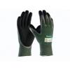 ATG MaxiCut Oil Grip 34-304 handschoen groen/zwart met snijvaste vezel klasse 3 maat 8