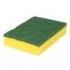 Schuurspons groen/geel 14 x 10cm