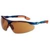 Uvex I-vo 9160068 veiligheidsbril bruine polycarbonaat zonneglazen optidur NC coating