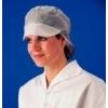 Wegwerppetten met klep en haarnet, wit (à 100st)
