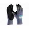 ATG MaxiCut Oil Grip 34-504 handschoen grijs/zwart met snijvaste vezel klasse 5 maat 10