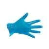 CMT handschoen vinyl gepoederd blauw maat M (prijs per 10 ds à 100st)