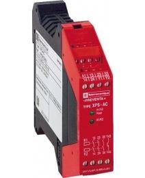 Telemecanique XPSAC5121 veiligheidsmodule tbv bewaking noodstoppen+standschak. 24VAC/DC 3M+1V